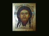From DIARY: Mandylion. / egg tempera icon: process of making/