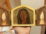 Reisealtere «Bebudelsen», «Jomfru Maria, be for oss», «Hvite Krist», «Veritas»